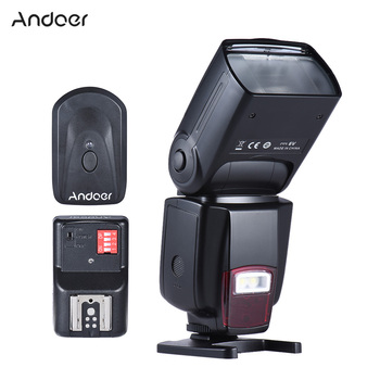 Andoer AD-560II Camera Flash Universal GN50 Flash Speedlite w/ Adjustable LED Fill Light + 16 Channels Wireless Remote Trigger