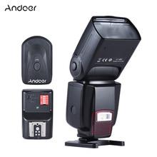 Универсальная вспышка Andoer для камеры GN50 с регулируемым светодиодом, светодиодный светильник + 16 каналов, беспроводной дистанционный триггер