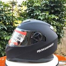 Гоночный Кроссовый двойной vr-шлем флип мотоциклетный шлем с внутренним солнцезащитным козырьком с двойным объективом в горошек утвержден