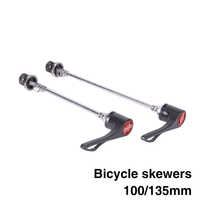 1 Pair Bicycle Skewers 9mm 5mm Quick Release Skewers 100mm 135mm Reliable Axle for MTB Road Bike