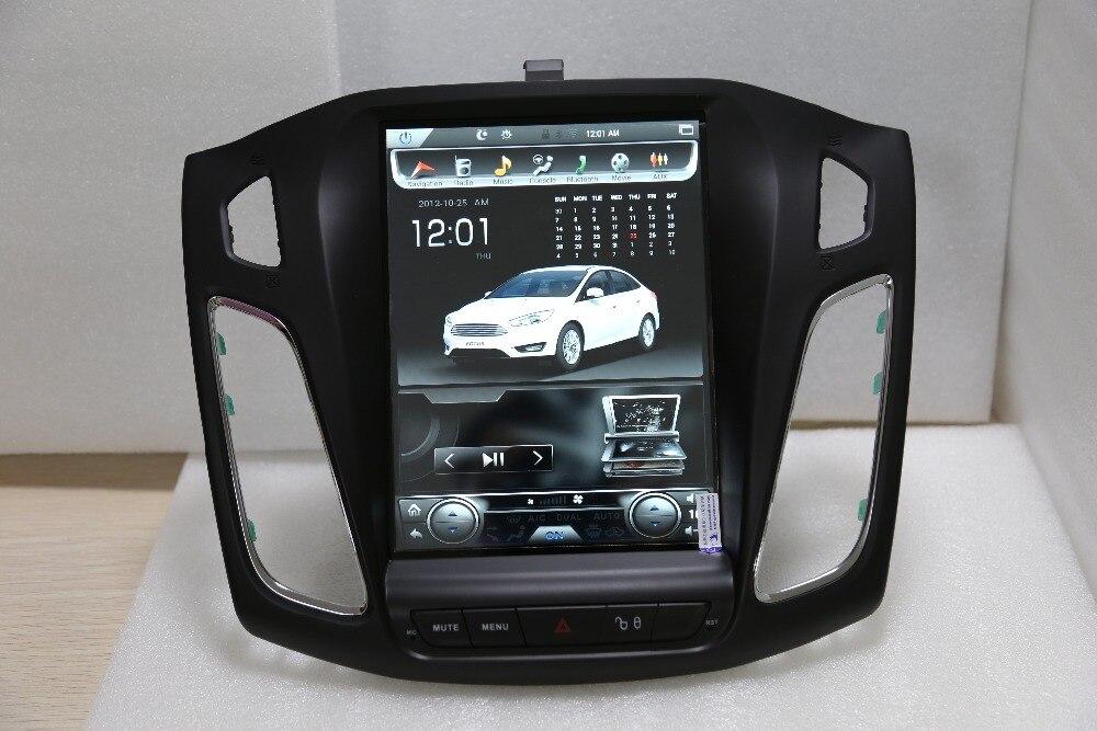 LaiQi 10,4 Quadcore dvd плеер автомобиля 1280x800 Тесла Стиль вертикальный Экран 32 ГБ Встроенная память стерео gps навигации для Ford Focus 2012 2017