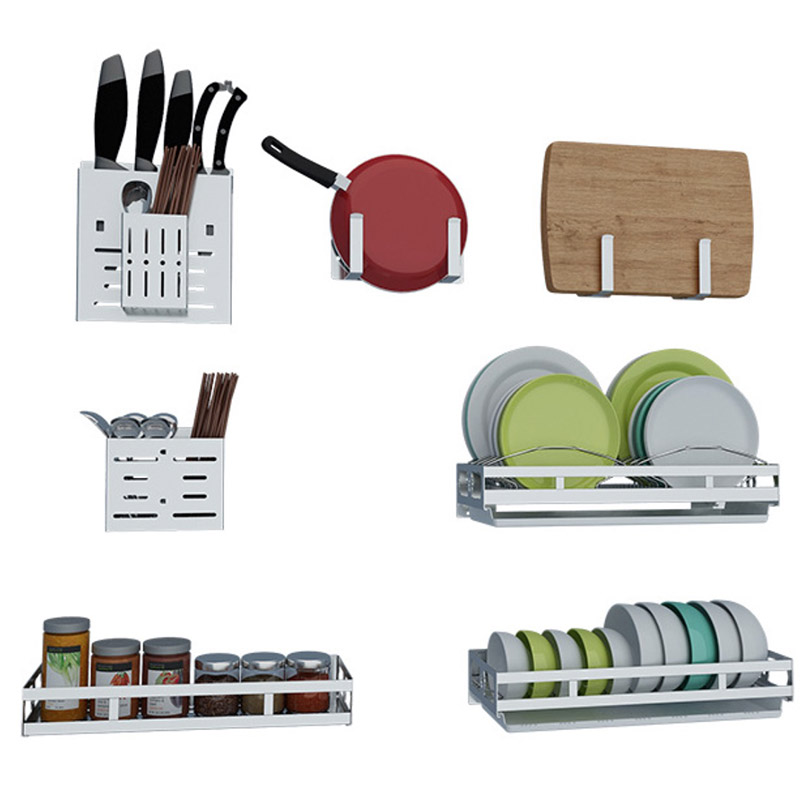 304 Stainless Steel Kitchen Rack, Kitchen Shelf, Spoon Knife Dish Rack Shelf No Punching