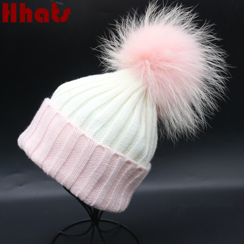Which in shower patchwork genuine fox fur ball winter hat for women thick mink fur pom pom knitted beanie cap brand lady hats foreign trade explosion models in europe and america in winter knit hat fashion warm mink mink hat lady ear cap dhy 36