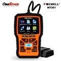 2017 scanner auto obd2 foxwell nt301 obd ferramenta de diagnóstico automotivo motor scanner fault code reader com sensor de o2 mesmo al519