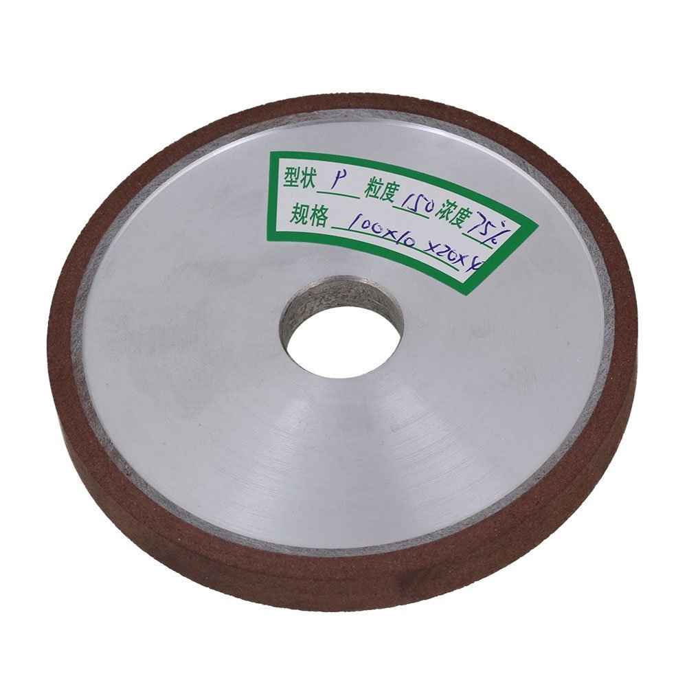150# Grit Flat Disc Straight Silver 100x10x20mm Diamond Aluminum Resin Grinder Grinding Wheel With