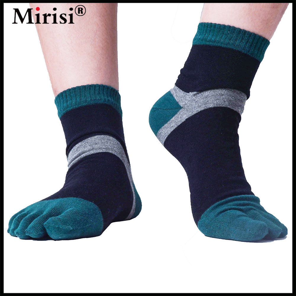 Hygroscopic good elasticity custom cotton socks five fingers socks