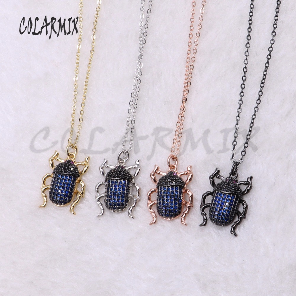 5 strands blue necklace fly bugs for lady Bee pendants small size jewelry 18 mix color necklace pets beads 3740