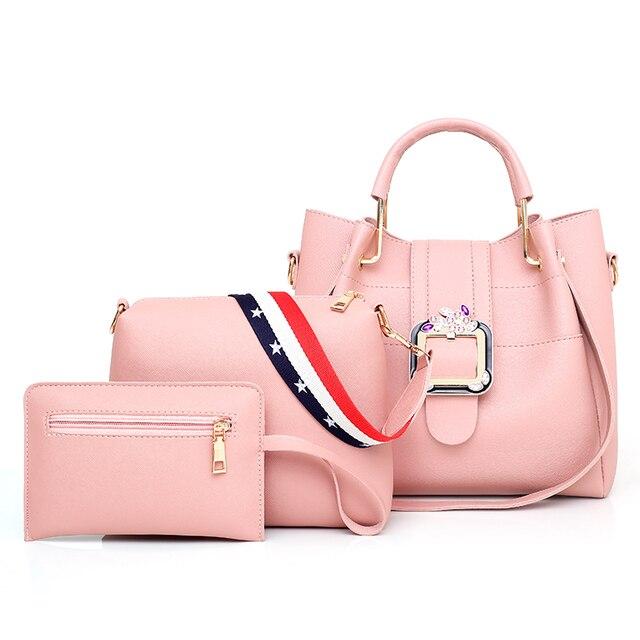 c2aa8c3cf 2018 Designer Crossbody Bag 3pcs/Set Fashion Women Messenger Bags Handbags  Women Famous Brands Tote
