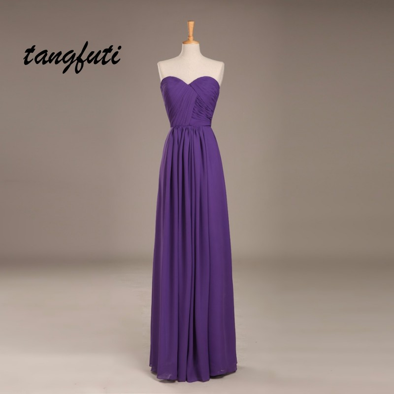 Simple Chiffon   Bridesmaid     Dresses   Sweetheart Backless Robe Wedding Women Party   Dress   Real Photo Custom A Line   Bridesmaid     Dress