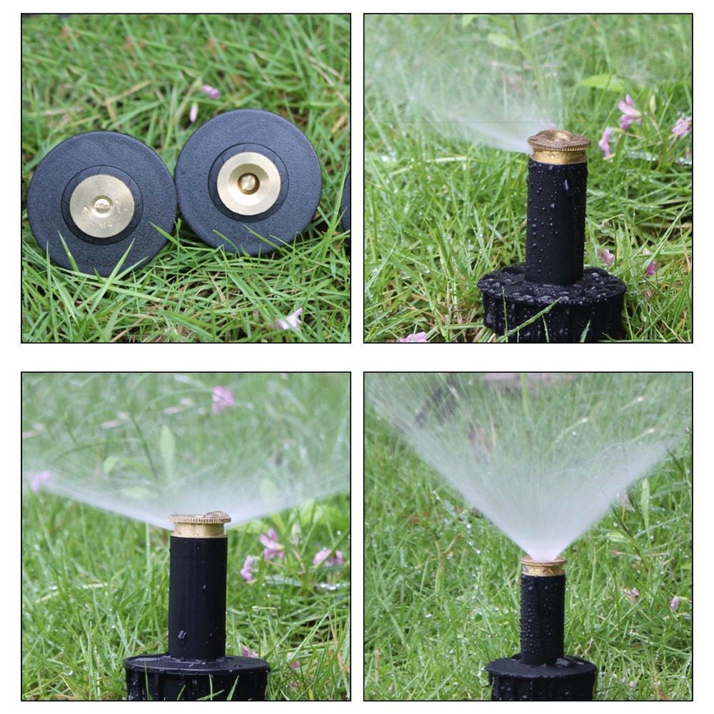 Image 3 - 90 360 Degree 4Pcs/lot Garden Lawn Sprinkler  Automatic Retractable Spray Irrigation System Copper Nozzle #GW00107-in Garden Sprinklers from Home & Garden