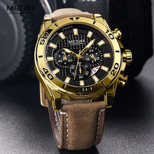 Relojes 2019 MEGIR Watch Men Fashion Sport Quartz Clock Mens Watches Top Brand Luxury Waterproof Watch Hour Relogio Masculino цена и фото