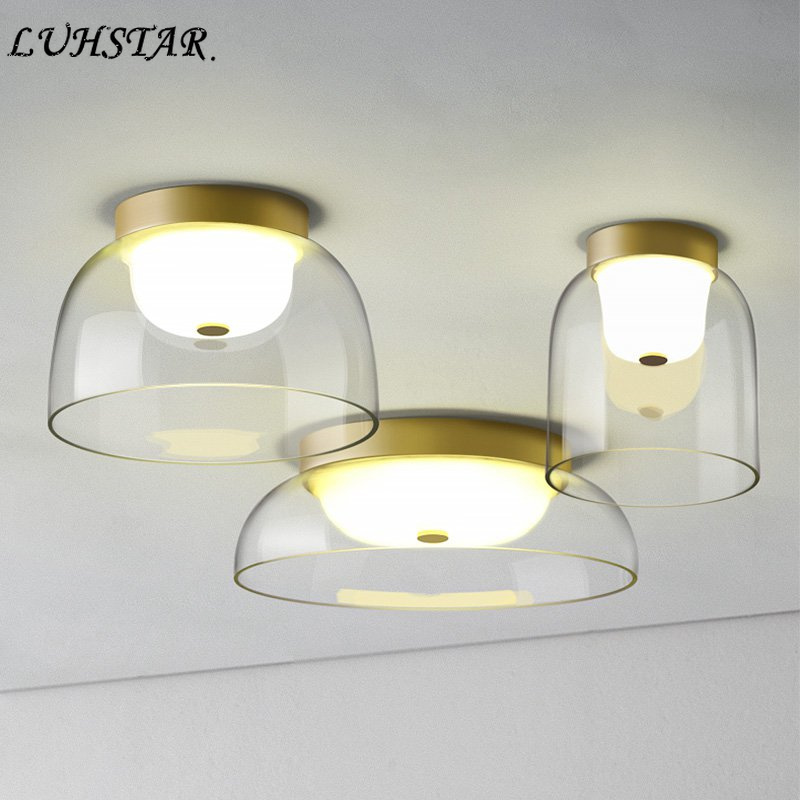 Post Modern Designer Gl Led Ceiling Lights Living Room Dining Kitchen Lamp Simple Home Decor Light Fixtures