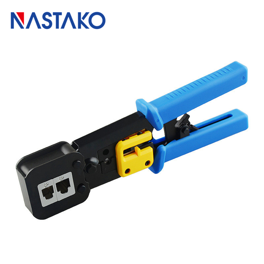 Blue EZ Rj45 Crimper RJ45 Crimping Tool Hand Tools Pliers Cable Stripper Cutter For RJ45 RJ12 RJ11 Cat6 Cat5e Cat5 Connector