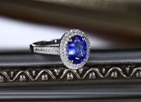 Оригинальный 2,26 карат 925 серебро Романтический сапфир синтетический бриллиан кольцо ювелирные изделия из танзанита для женщин (см)
