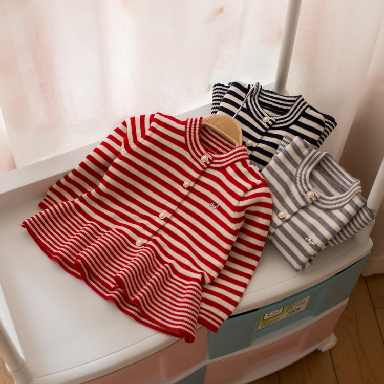 2018 New Spring Autumn Girls Striped Pleated Knitted Sweater Baby Kids Cotton Cardigan Little Girls Soft Knitwear Dresses A791 цена 2017