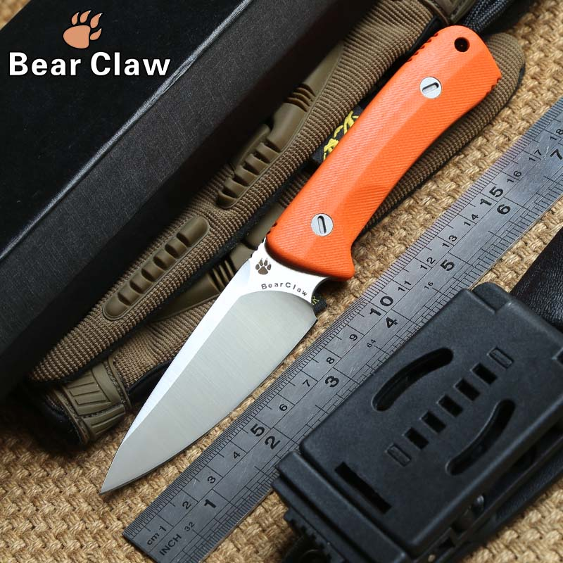 Bear claw Nettle fixed blade knife D2 steel G10 handle outdoor hunting survival pocket kitchen fruit knives practical edc tools  pegasi buck 009 fixed blade knife 440c stainless steel outdoor hunting knife survival knives edc tool