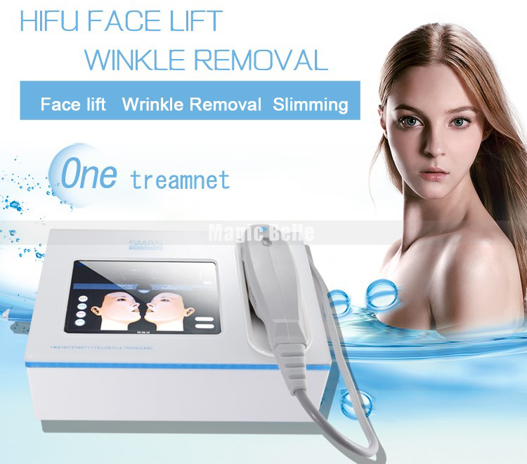 Fashional conception portable machine à ultrasons prix deuxième génération hifu machine avec Européenne CE