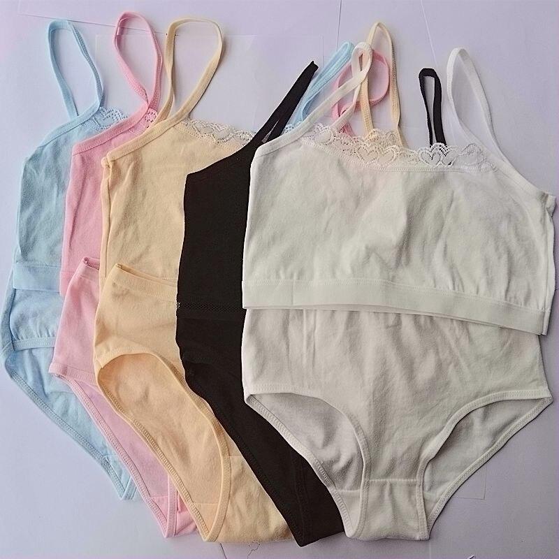 caff43ffe De encaje de algodón sujetador de GirlsChildren sujetador para adolescentes  ropa adolescente sujetador conjunto adolescente Niñas Ropa interior 6-12  años