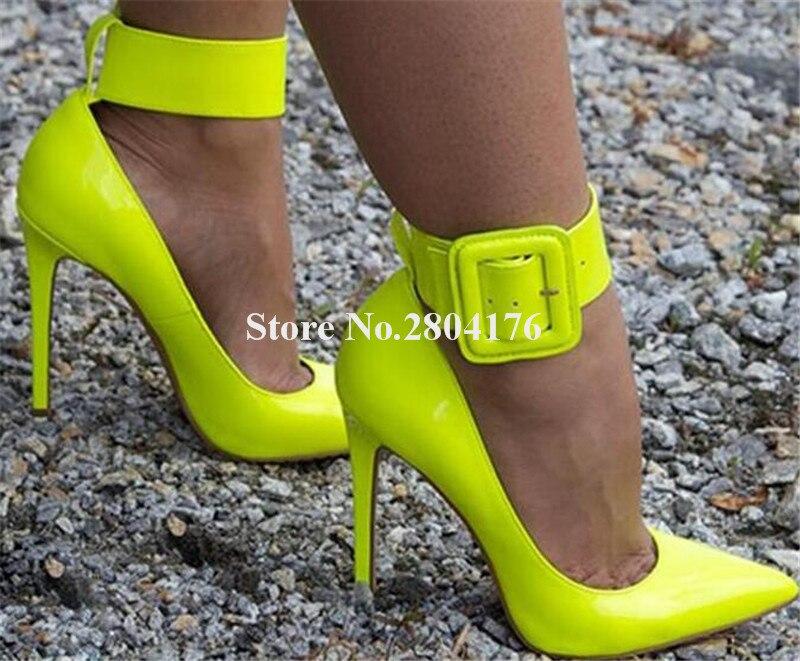 Pointu Boucle Grande Sangle Sexy En Cheville Picture Robe Pompes Sucrerie Bout Club As as Cuir De Picture Hauts Femmes Mince Chaussures Verni Talon Talons Couleurs wZdEqEO