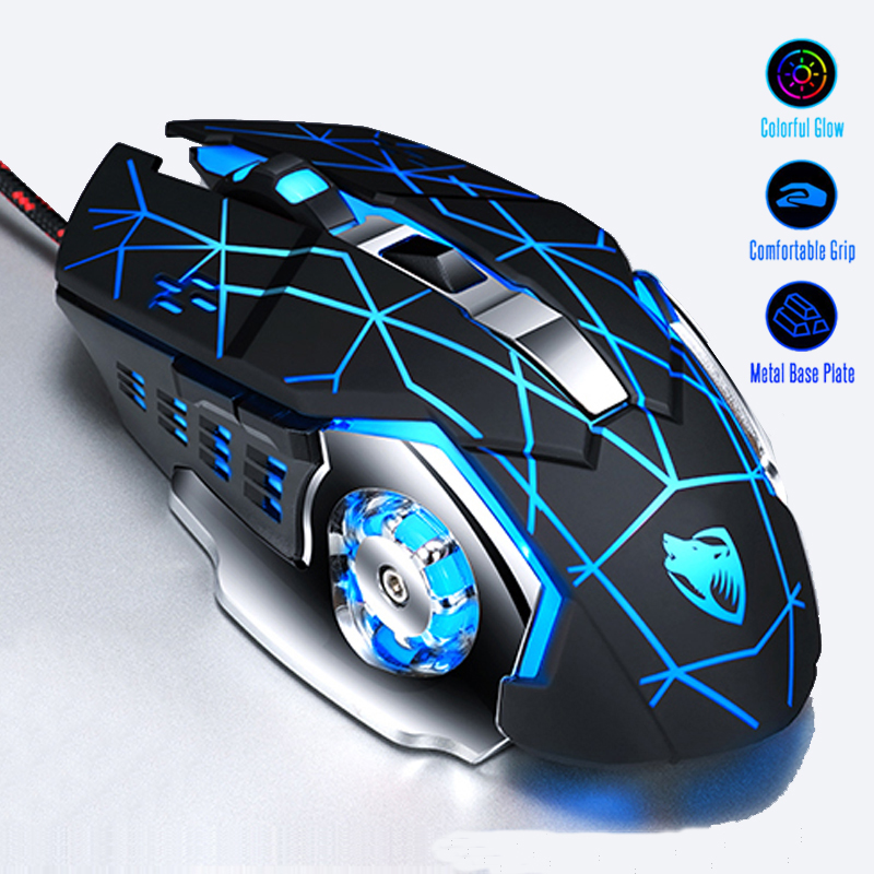 2.4GHz Wireless 3200DPI Adjustable Gaming Mouse Mice for PC Laptop Pro Gamer