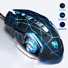 Professional Gamer Gaming Mouse 8D 3200DPI Adjustable Wired Optical LED Computer Mice USB Cable Silent Mouse for laptop PC optical gaming mouse professional 3200dpi adjustable 6 buttons 6d pro pc computer mice usb wired led light mouse gamer black