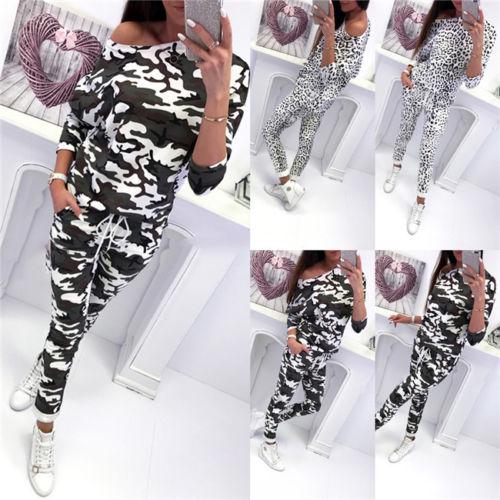 Nova moda de duas peças conjunto 2 pcs feminino agasalho retalhos sptride calças moletom define lounge wear casual terno cortado