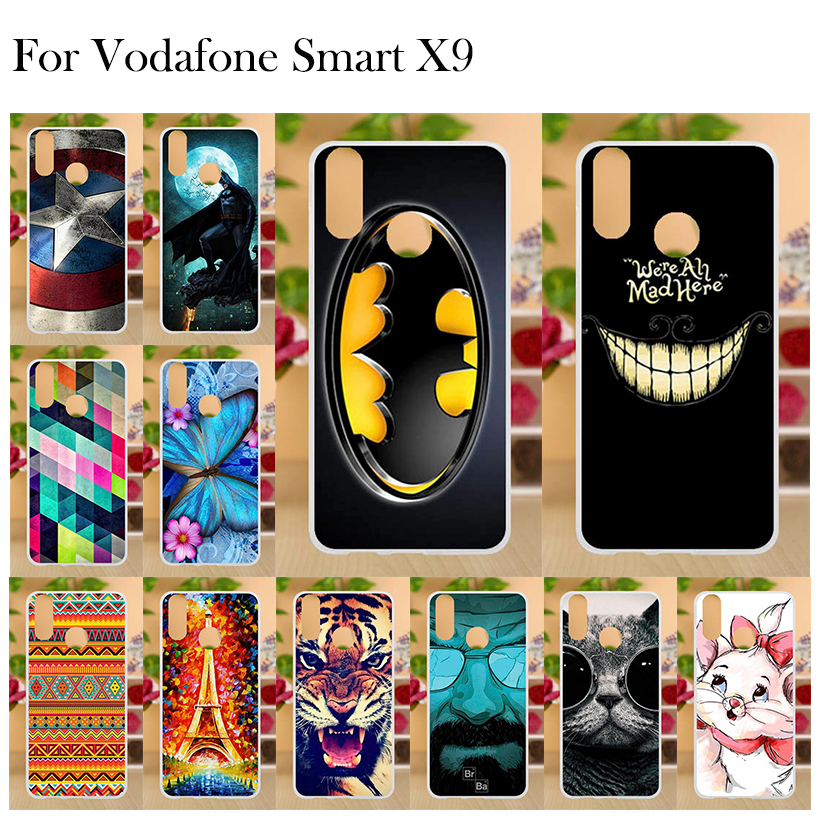 US $0 97 33% OFF|Vodafone Smart X9 Case Silicone Funda Vodafone X9 Cover  Soft TPU Cute Flower Animal Phone Case for Vodafone Smart X9 Back Cover-in