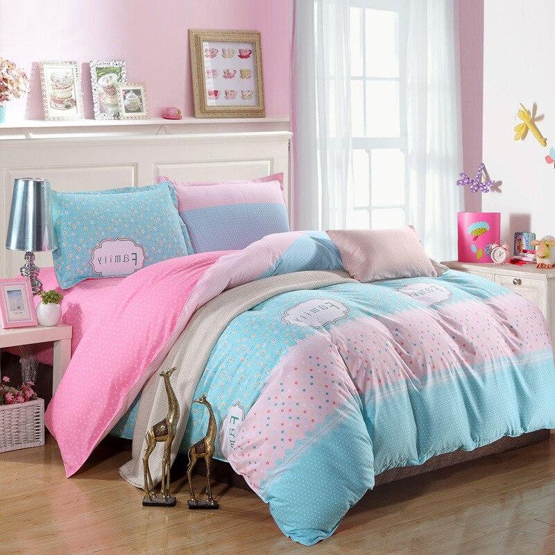 ▽Moda juego de cama de algodón cama de flores cama 3-4 unids ...