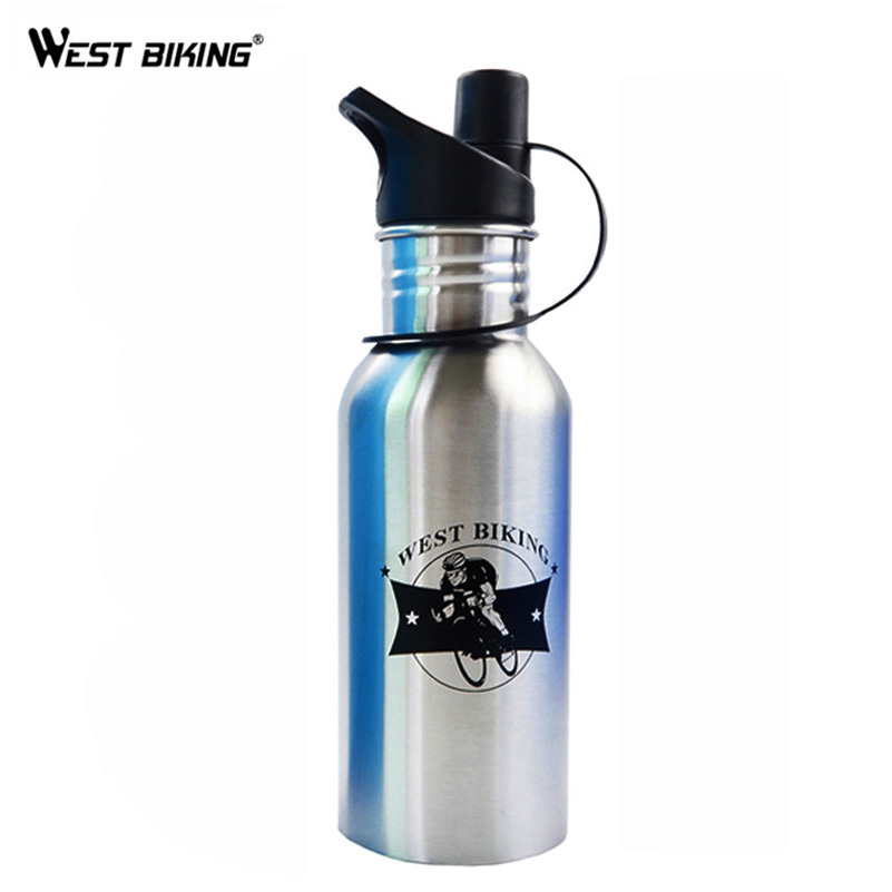 WEST BIKING Sports Travel Drinkware Kettle Stainless Steel MTB Bicycle Riding Garrafa Mountain Bike Cycling Water Drink Bottle