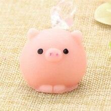 Мяч-свинка мягкий медленно поднимающийся каваи мини Моти кролик телефон ремень игрушка-пищалка кулон хлеб торт детская игрушка подарок