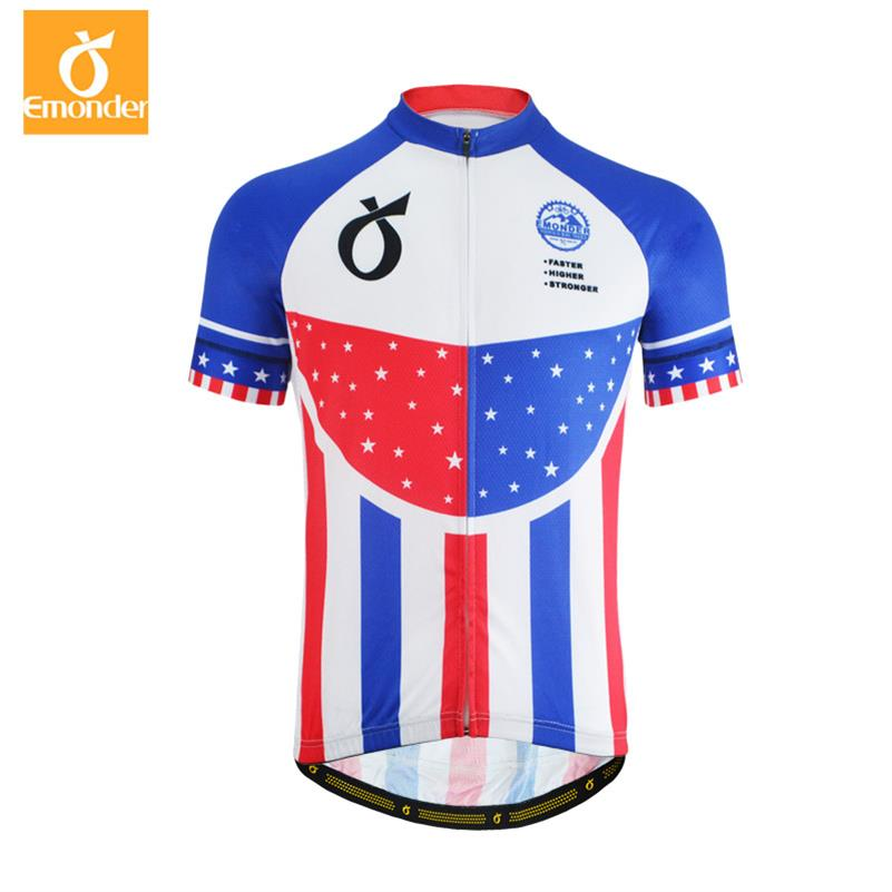 7549b9547 EMONDER Men Cycling Jersey Short Sleeve MTB Bicycle Bike Clothing Ropa  Ciclismo Summer Breathable 2018 Pro Team Cycle Shirt-in Cycling Jerseys from  Sports ...