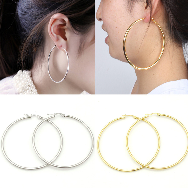 f20dc377c Women Exaggerated Small Big Circle Rock Round Earrings Party Hoop Earring  Fashion Jewelry Gift-in Hoop Earrings from Jewelry & Accessories on  Aliexpress.com ...