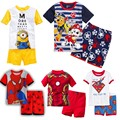 new design spiderman cotton pijamas kids Despicable Me minions short sleeve boys pyjamas children pajama sets baby clothing