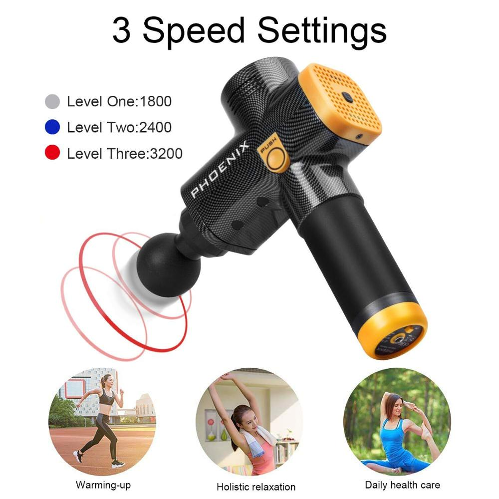 Dropshipping PHOENIX Massage Gun Deep Tissue Muscle Massager Cordless Percussion Personal Massage Device PX A2 in Massage Relaxation from Beauty Health