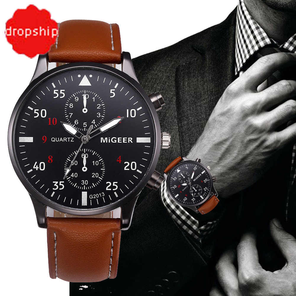 relogio masculino Watch Men Military Quartz Watch Mens Watches Top Brand Luxury Leather Sports Wristwatch Date Clock 8225