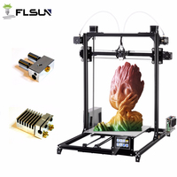 3D Printer kit Flsun I3 DIY Large Plus Printing Area 300*300*420mm Auto leveling Dual Extruder Touch screen filament for Gift