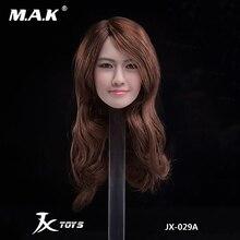 GIRL head JXTOYS-029 1/6 Scale Lim Yoon A/B Yoona Asian beauty Female Head Sculpt Model For TBL Phicen Pale 12 Figure body