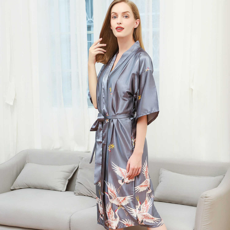 5b798e9561 New women sexy short robe royal blue summer nightgown rayon bride  bridesmaid dressing gown solid kimono