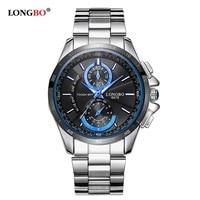 Longbo Marke Mode Sport Armee Uhren Männer Edelstahl Uhr Business Stil Military Wasserdicht Quarz Armbanduhren 8978