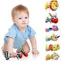 Espelho Handbells Chocalhos Do Bebê Brinquedos de Pelúcia Animal Dos Desenhos Animados BB Celulares De Brinquedo de Pelúcia Infantil Agarrar Chocalho Tilintar do Sino Mão Da Criança