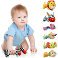 Mirror Plush Handbells Toys Baby Rattles Cartoon Animal BB Toy Mobiles Stuffed Infant Grasping Rattle Toddler Tinkle Hand Bell