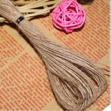 Corde de chanvre murale de 20 mètres, cordon de chanvre, accessoire décoratif tricoté à la main, cordon de couleur Kraft, pour emballage cadeau