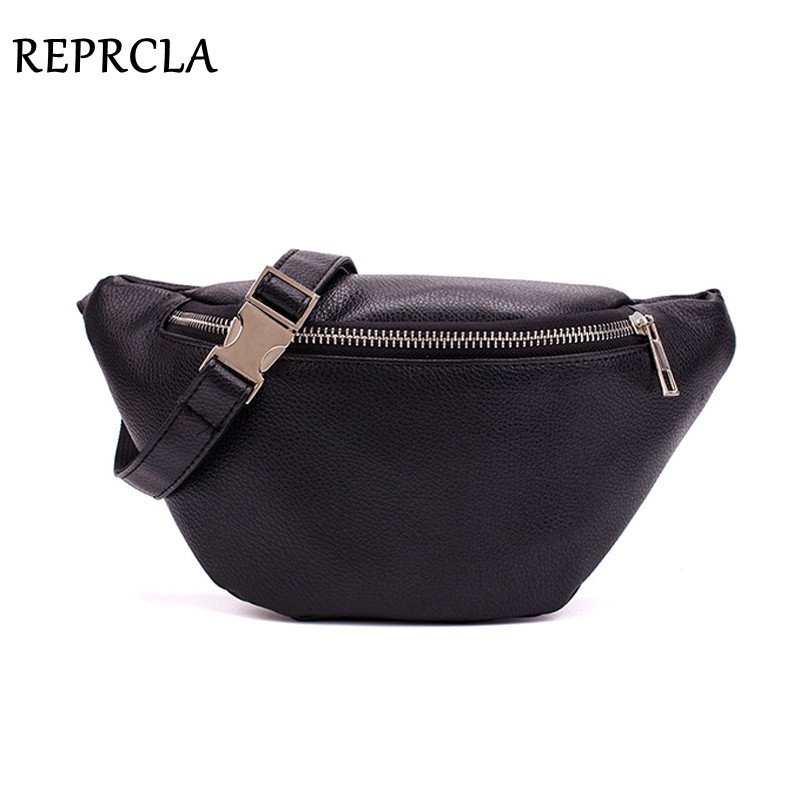 REPRCLA Waist Pack Fashion PU Leather Fanny Pack For Women Belt Waist Bag Brand Designer Shoulder Bag Casual Female Chest Bag