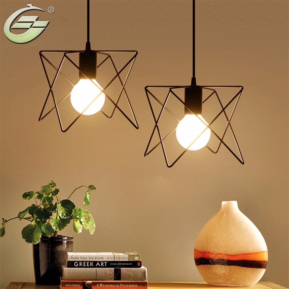 Retro Iron Cage Lampshade Indoor Lighting Vintage Pendant Light Fixture for Home Decor, Black Hanging Lamp with G80 40W bulb kitchen aisle stair light wall lamp vintage iron fabric lampshade decor sconces indoor home lighting gift e14 3w led bulb 220v