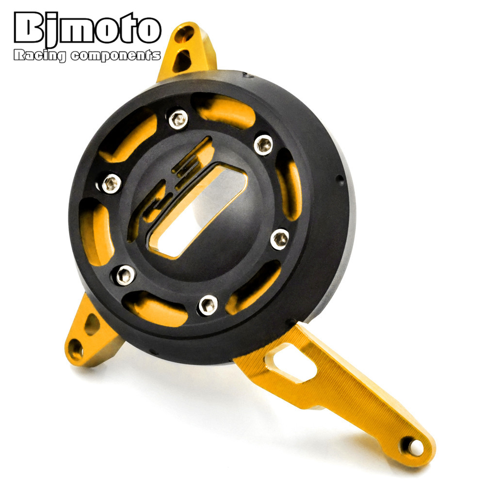 ФОТО Motorbike CNC Aluminum Anodized and POM Engine Stator Cover Case Slider Protector For Yamaha YZF R3 2015 2016