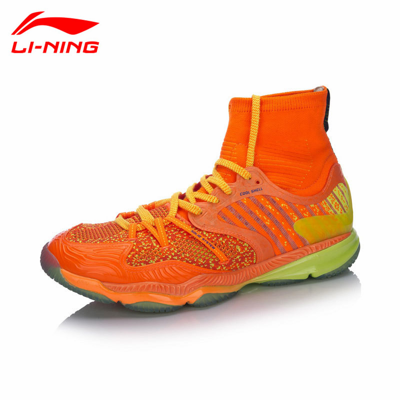 High-end Li-Ning Professional Badminton Shoes for Men 2017 New High Cut Cushion LiNing Sports Shoe Sneakers  AYAM009 Top Quality original li ning men professional basketball shoes