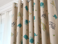 Korean Cute Animal Paradise Living Room Bedroom Curtains Shading Curtain Cloth Children S Room