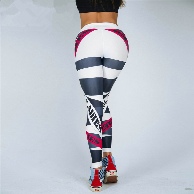 Women Letter Print Leggings Fitness High Waist Push Up Pants Breathable And Comfortable Workout Leggings Feminina