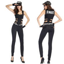 Police Costume Sexy SWAT Sniper Cop Uniform Adult Women Halloween Swat Officer Costume Coslpay Game Stage  sc 1 st  AliExpress.com & Buy costume swat and get free shipping on AliExpress.com