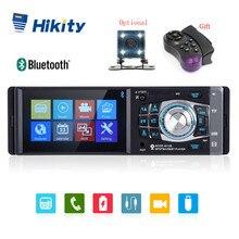Hikity 4012B 4,1 дюймов 1 Din автомагнитола Авто Аудио Стерео FM bluetooth Поддержка камеры заднего вида рулевое колесо дистанционное управление